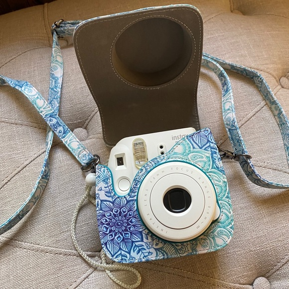 Instax mini 8 camera and case
